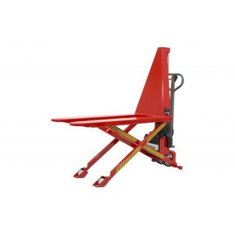Transpaleta de tijera semi electrica 1200x560 mm, capacidad de carga de 1000 kg