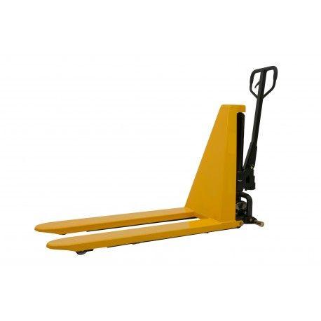Transpaleta de tijera manual carga 1000 kg hasta 800 mm rodillo poliuretano