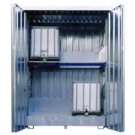 Armarios--Caseta galvanizada cerrada 3.000 X 1.700 X 3.900