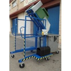 Volteador contenedores eléctrico 200kg