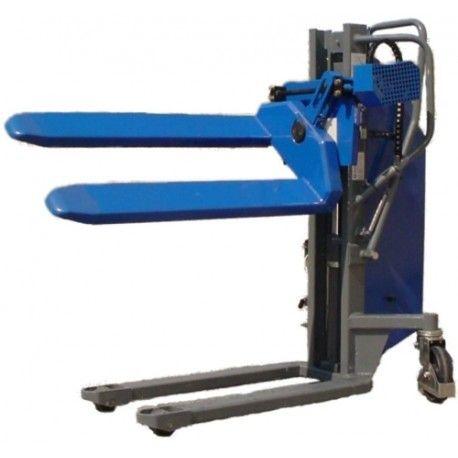 Apilador con Elevación eléctrica y Rotación manual