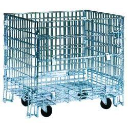 Supermercados y almacenes--Contenedor de rejilla plegable