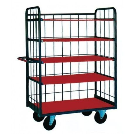 Supermercados y almacenes--Cestón con baldas 800kg (60kg/balda)