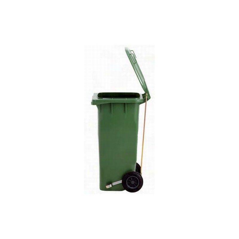 Cubo de basura con pedal 240l contenedor de basura con for Cubos de basura con pedal