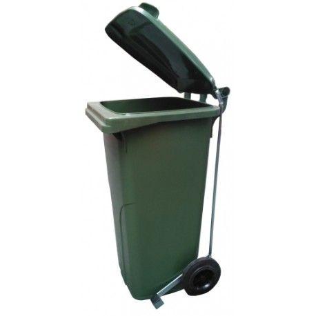 Bidones de plástico y chapa--Cubo de basura 120L con pedal
