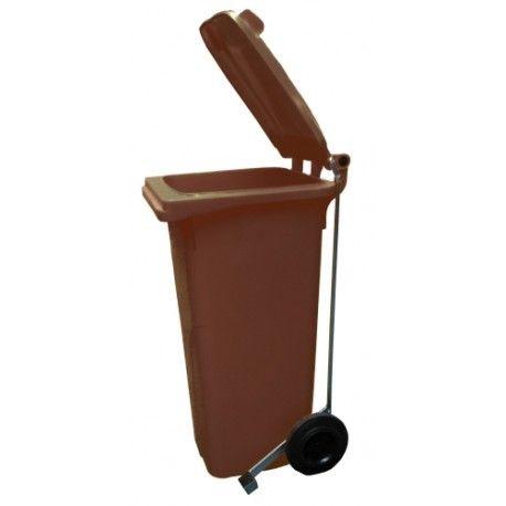 Bidones de plástico y chapa--Cubo de basura 80L con pedal