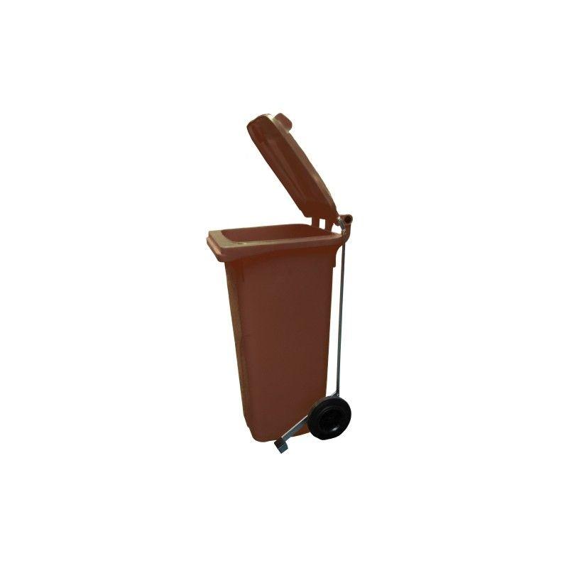 Cubo de basura 80l con pedal contenedor de basura en for Cubos de basura con pedal