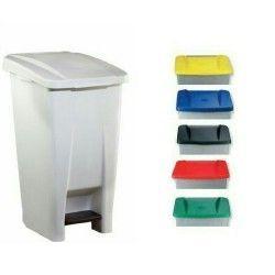 Bidones de plástico y chapa--Cubo tapa de colores 60L