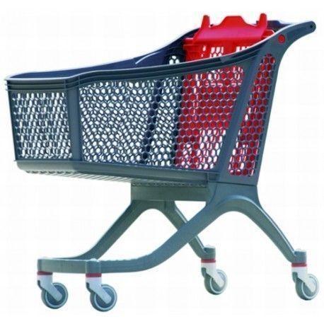 Supermercados y almacenes--Carro supermercado PVC 165 lts