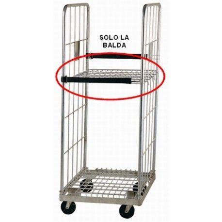 Supermercados y almacenes--Balda para roll container