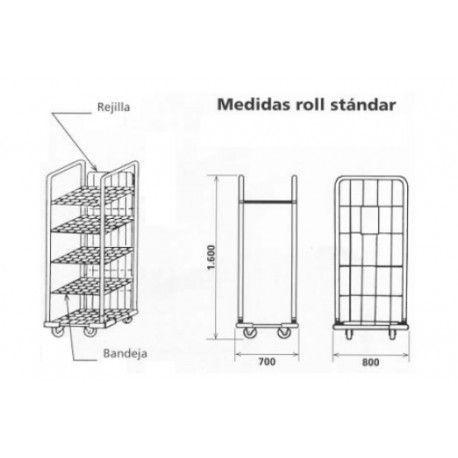 Supermercados y almacenes--Parte trasera Roll