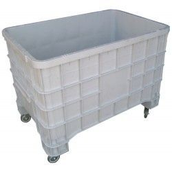 Plastic Container with Wheels