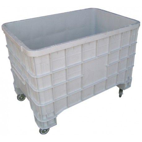 Contenedores y cestones--Contenedor de plástico con ruedas 300kg