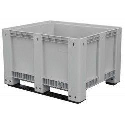 Contenedor para baterías con patín