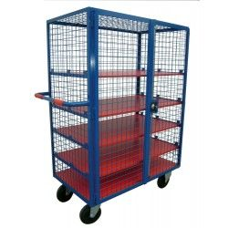 High Basket with Mesh and Shelves