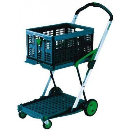 Supermercados y almacenes--Carro plegable con caja