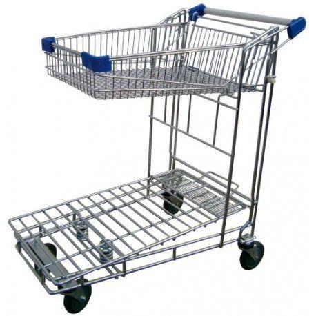 Supermercados y almacenes--Carrito autoservicio con cesta