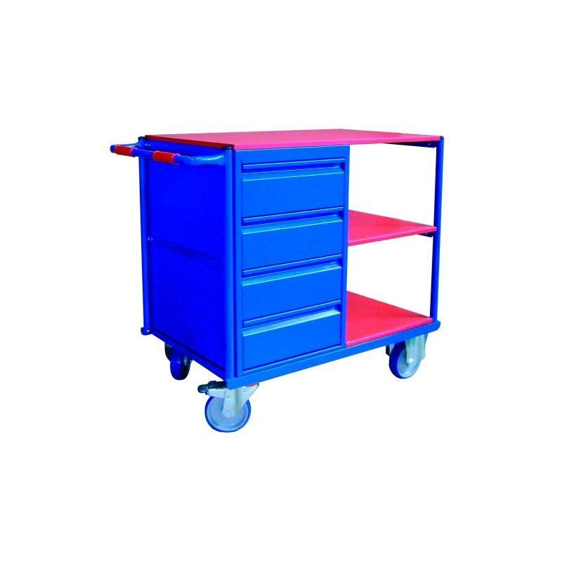 Carro herramientas con cajones y ruedas b sico mesa - Mesas con ruedas de carro ...