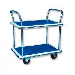 Carros y bancos talleres--Carro con baldas de 150kg de capacidad, ruedas de goma