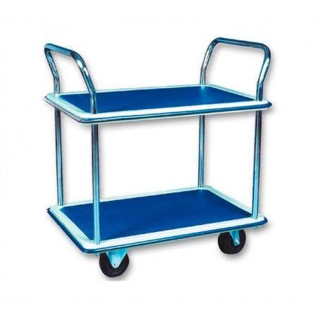 Carro con baldas de 120kg de capacidad, ruedas de goma