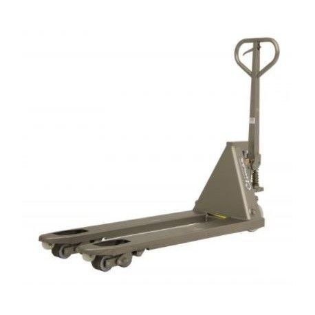 Transpaleta inoxidable 1130x520 mm, capacidad de carga de 2000 kg
