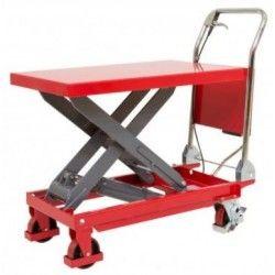 Mesa elevadora manual con capacidad de carga de 300 kg