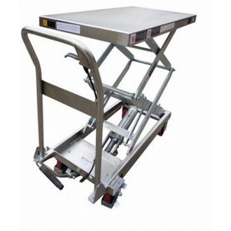 Mesas Manuales--Mesa elevadora manual Inox 350kg