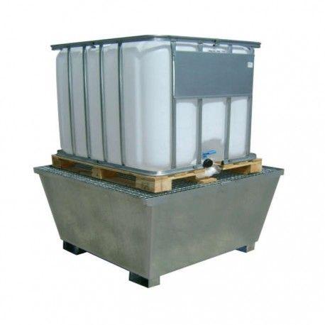 Bidones de plástico y chapa--Cubeta galvanizada 1000L