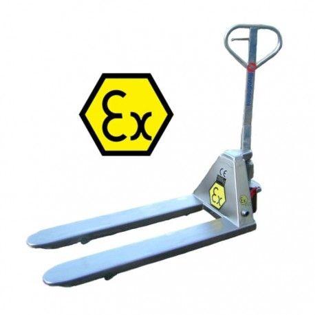 Transpaletas inox y galvanizadas--Transpaleta ATEX