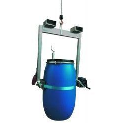 Para cargar bombonas y bidones--Implemento bidón para grúa