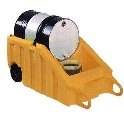 Cubetas de polietileno & metálicas --Carro 1 bidón basculante