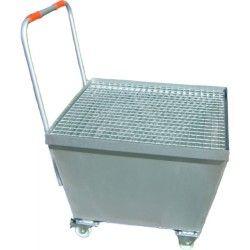 Cubetas de polietileno & metálicas --Carro transportador con deposito