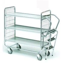 Supermercados y almacenes--Carro con escalera