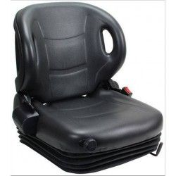 Seat with mechanical suspension and belt