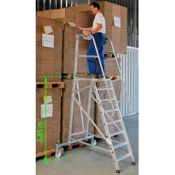 Escalera de almacén de aluminio ligera