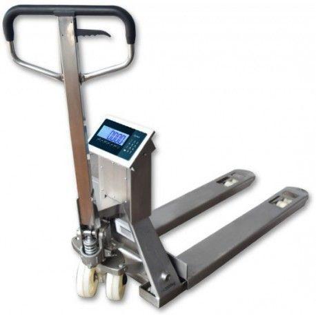 Transpaletas Pesadoras--Transpaleta Inox pesadora carga 1000/2000 Kg