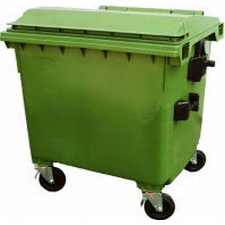 Bidones de plástico y chapa--Cubos de basura 1000L.