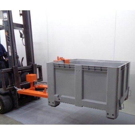 Sobre tablero: volteadores, pinzas,…--Volteador contenedores de plástico