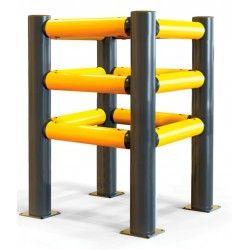 Protecciones industriales--Protector de Columna 3 raíles