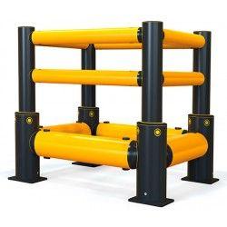Protecciones industriales--Protector de Columna 2 raíles + Rail Doble
