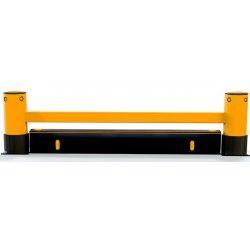 Protecciones industriales--Barrera para estanterías de 1 raíl y zócalo