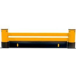 Protecciones industriales--Barrera para estanterías de 2 raíles y zócalo