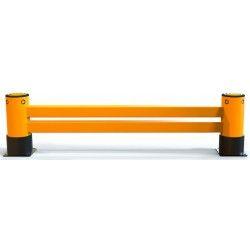 Protecciones industriales--Barrera para estanterías de 2 raíl 2,4M