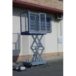 Mesa de tijera con vallas 1000kg