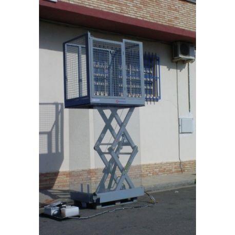 Mesas Especiales--Mesa de tijera con vallas 1000kg