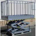 Mesa Elevadora Eléctrica de Tijera 1000kg (con barandillas)