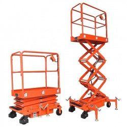 Plataformas--Plataforma Elevadora de Tijera 3m-300kg (a batería)
