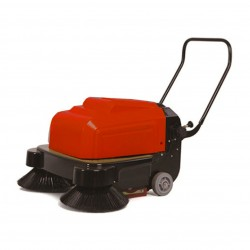Electric Sweeper Driver on Foot