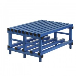 Double PVC Bench for Changing Rooms
