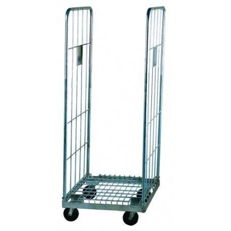 Supermercados y almacenes--Carro con ruedas y abierto por los laterales